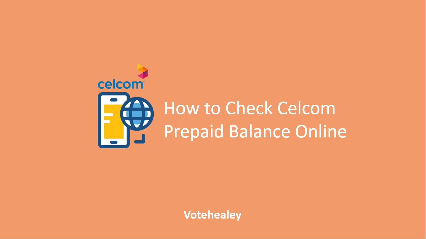 How to Check Celcom Prepaid Balance Online