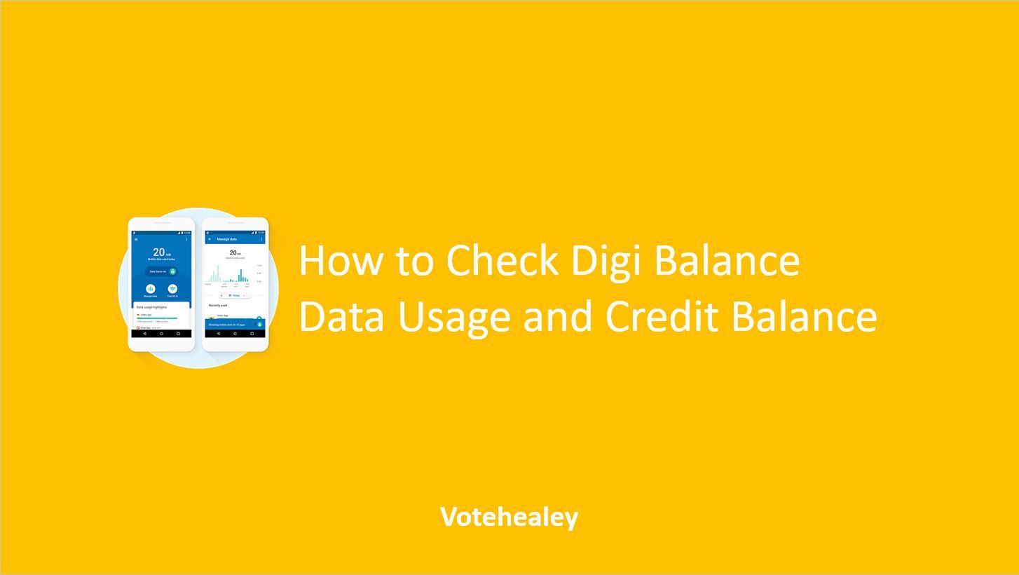 How to Check Digi Balance