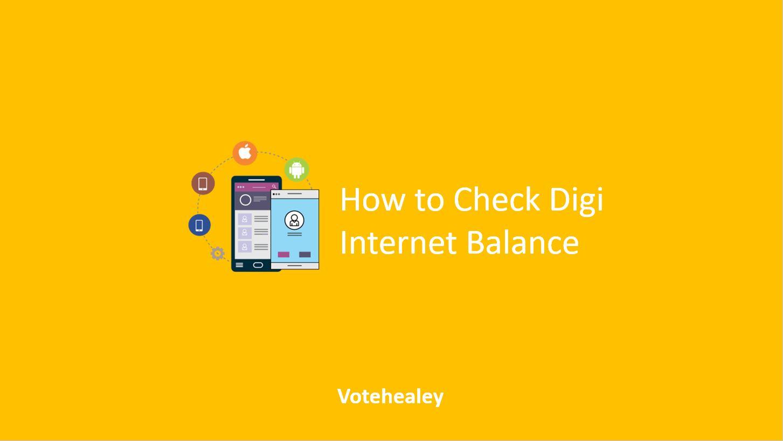 How to Check Digi Internet Balance