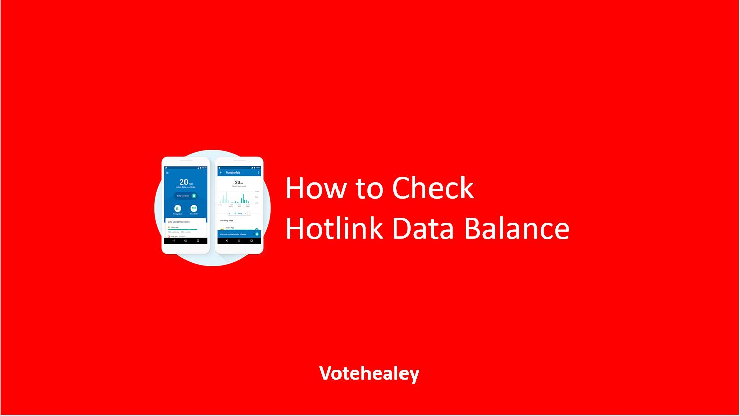 How to Check Hotlink Data Balance