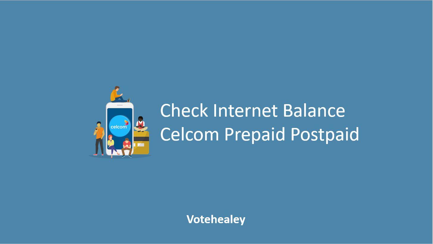 How to Check Internet Balance Celcom