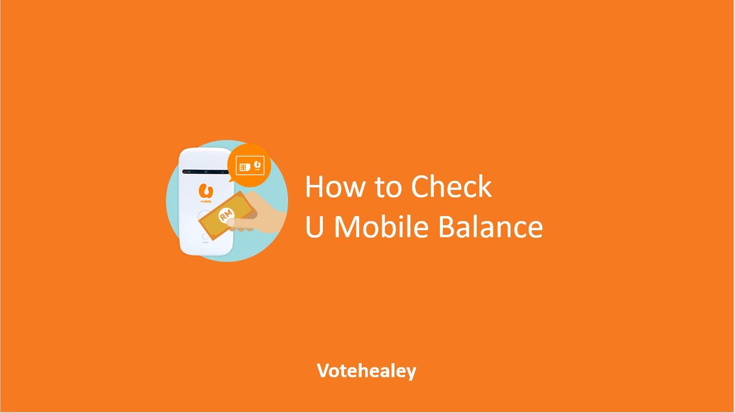 How to Check U Mobile Balance