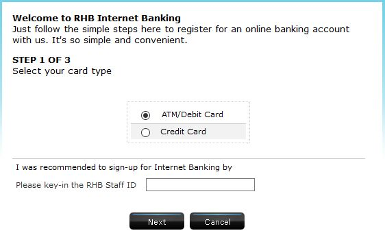 Activate RHB Internet Banking