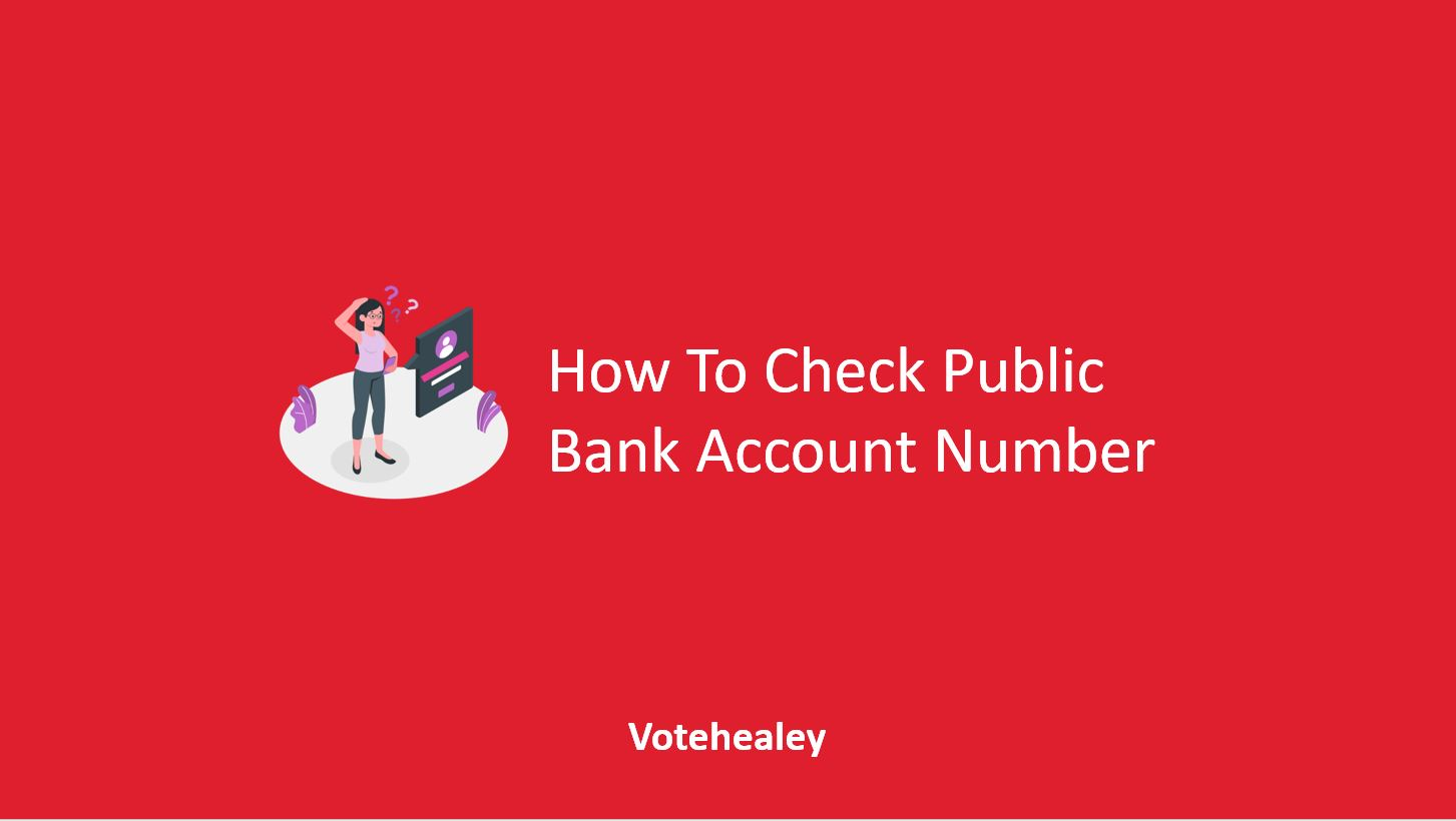 Check Public Bank Account Number