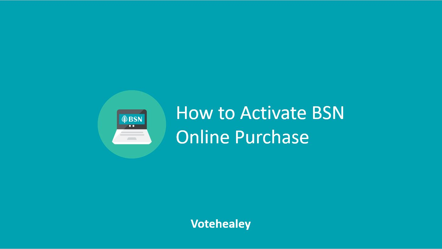 How to Activate BSN Online Purchase