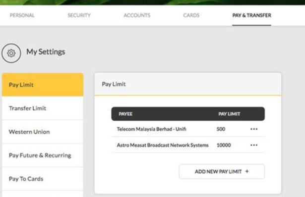 How to Change Payment Limit Maybank