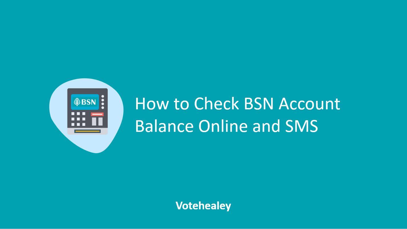 How to Check BSN Account Balance