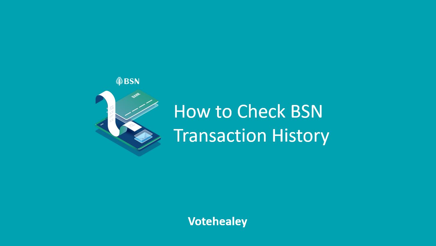 How to Check BSN Transaction History