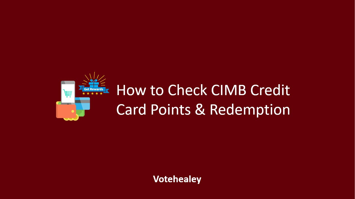 How to Check CIMB Credit Card Points