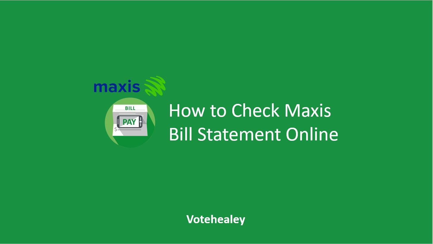 How to Check Maxis Bill