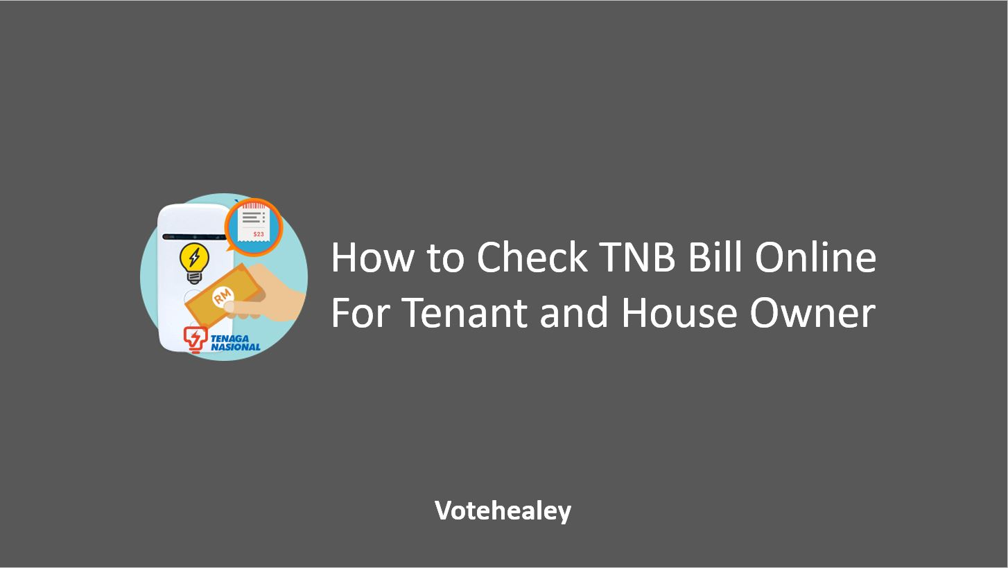How to Check TNB Bill Online