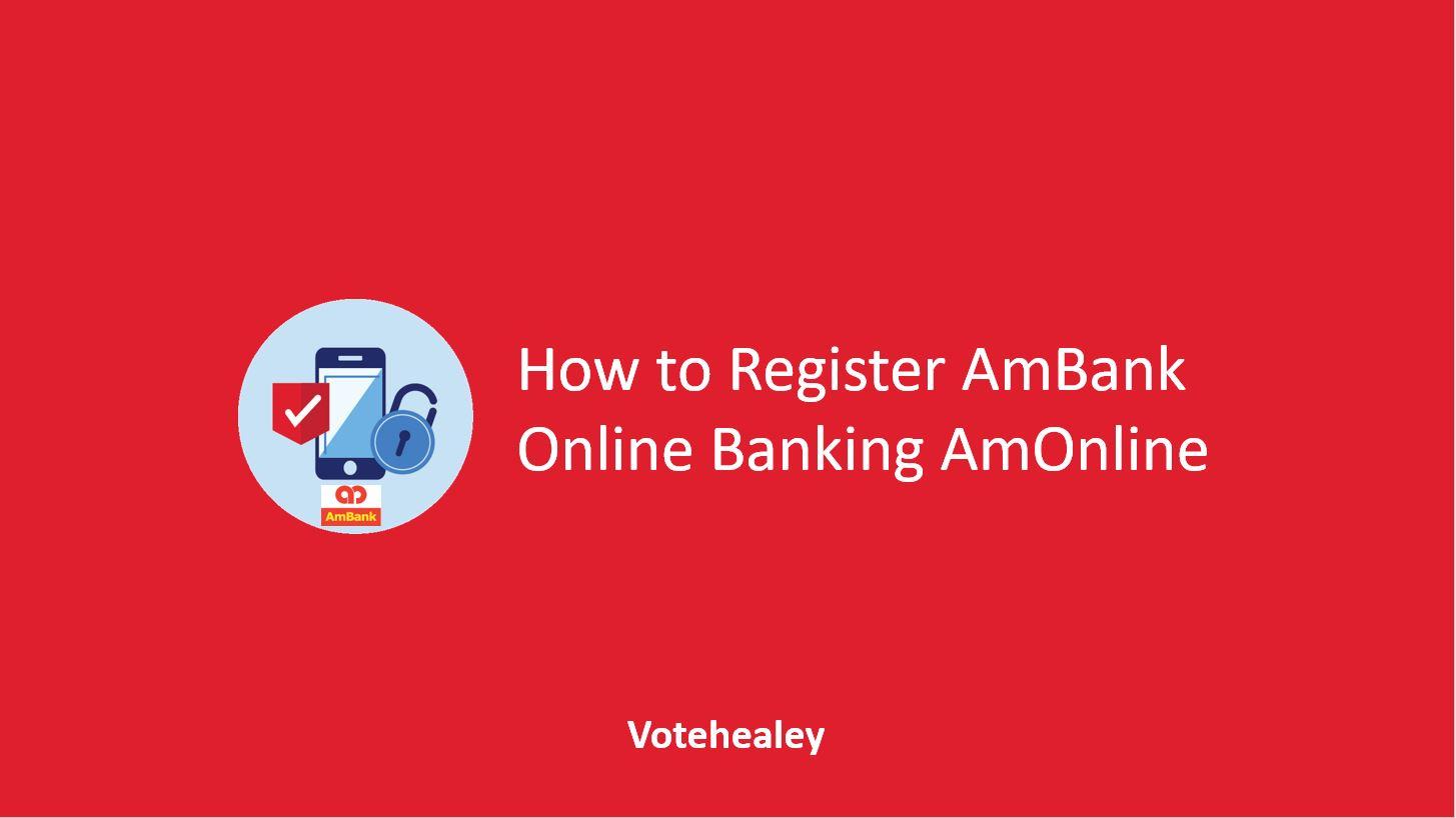 How to Register AmBank Online