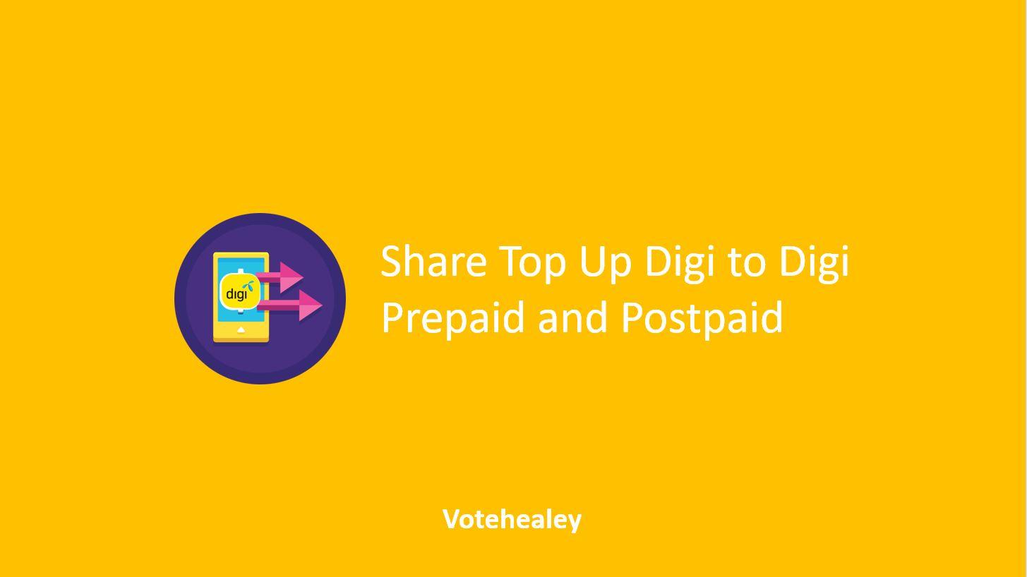 How to Share Top Up Digi to Digi