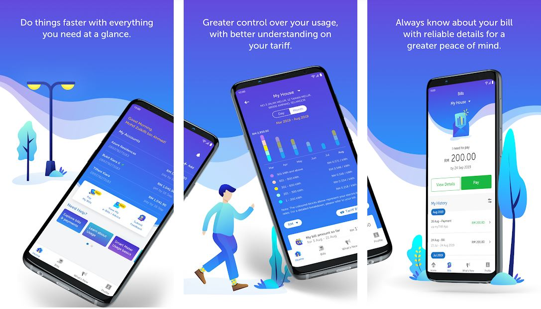 How to check TNB bill via an app