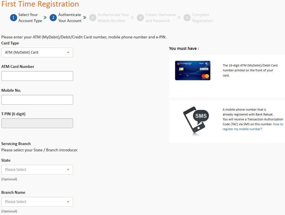Register Bank Rakyat Online