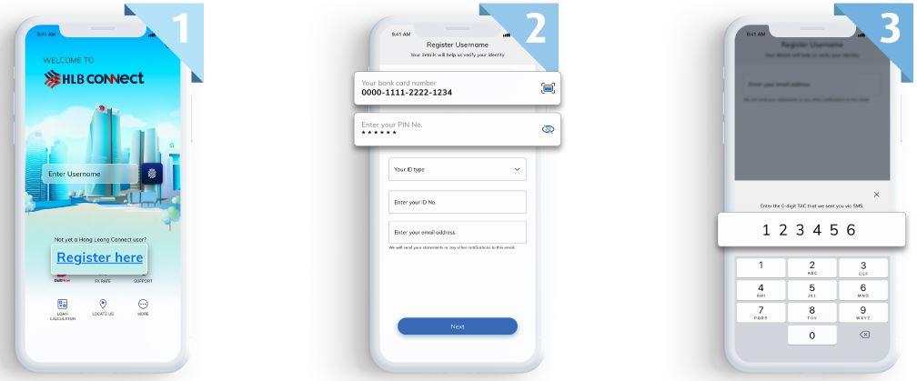 Register Hong Leong Connect Mobile Banking