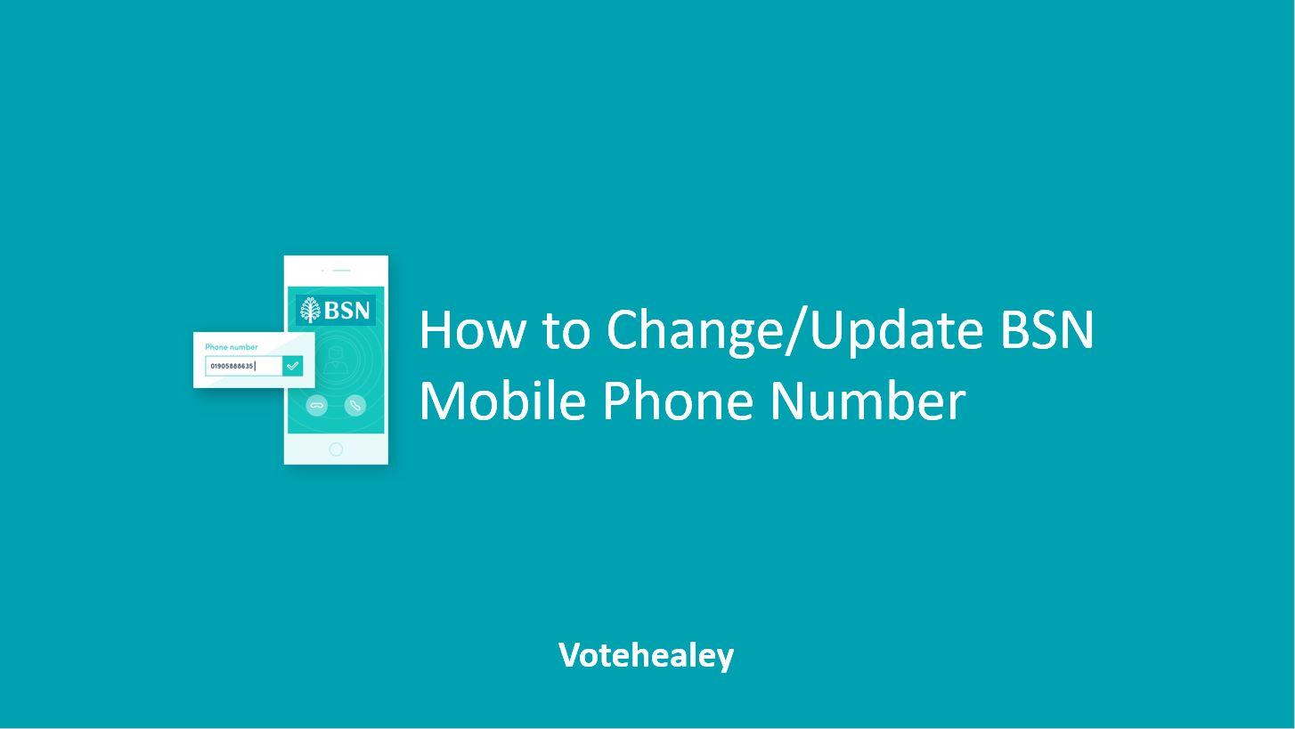 Update BSN Mobile Phone Number