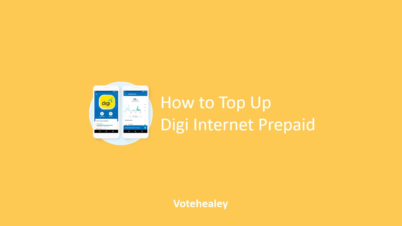 How to Top Up Digi Internet Prepaid