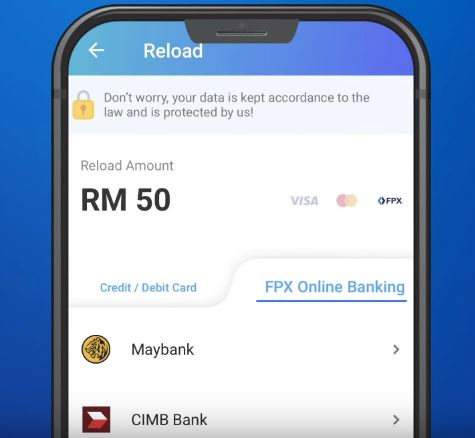 Reload Touch n Go via FPX Online Banking
