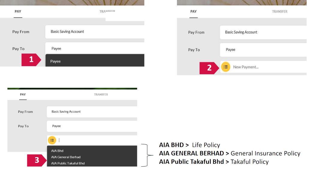 Pay AIA Insurance via Maybank Online Banking