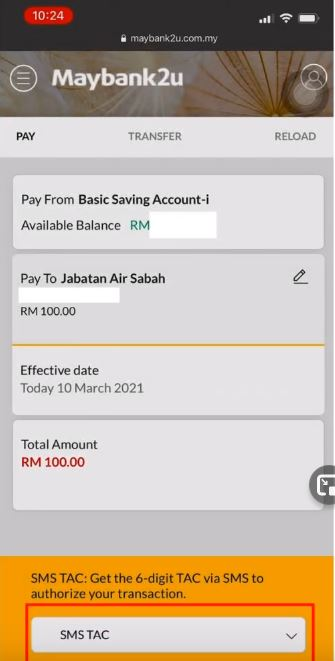 Pay Water Bill Jabatan Air Negeri Sabah Online