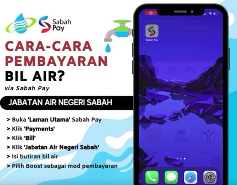 Pay Water Bill Jabatan Air Negeri Sabah Using Sabah Pay App