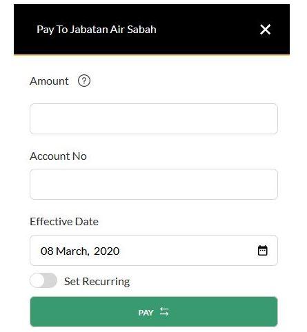 Pay Water Bill Online Using Maybank2u JomPAY