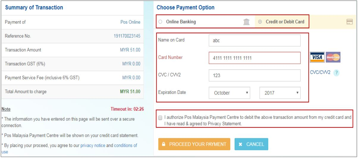 Pay Water Bill Perak via POS Online