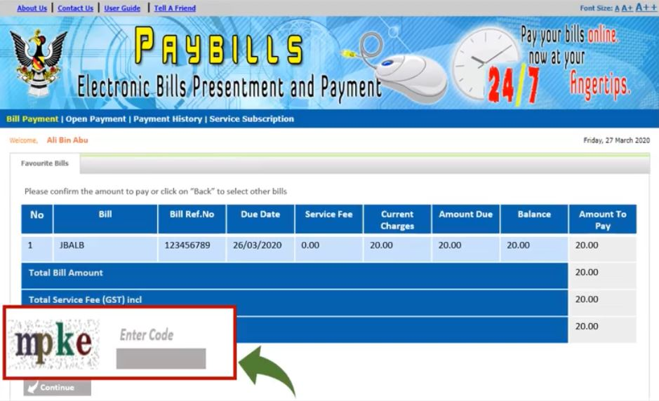 Pay Water Bill Sarawak Online JBALB