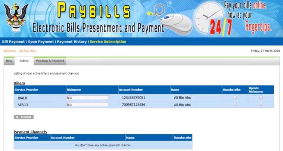 Pay Water Bill Sarawak Online via Paybills Sarawak