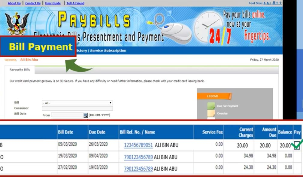 Pay Water Bill Sarawak via Online