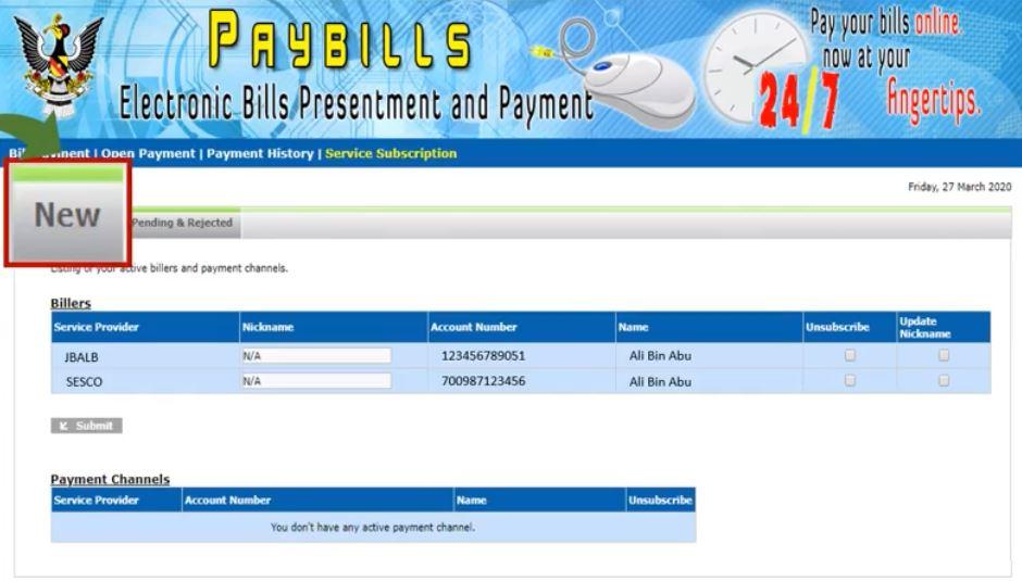 Pay Water Bill Sarawak via Paybills Sarawak