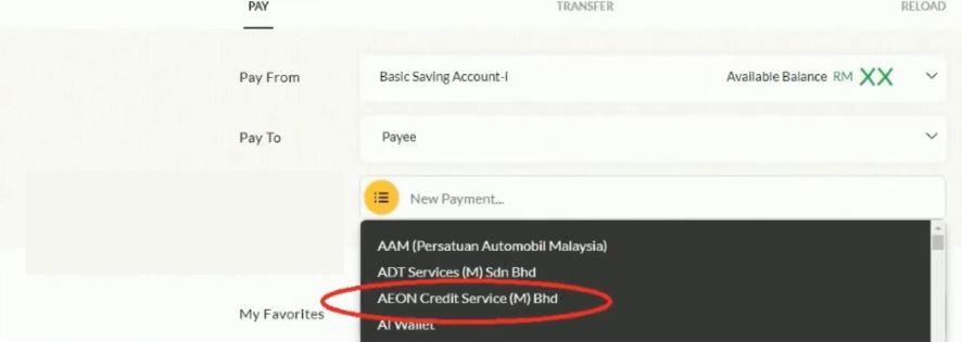 How To Pay AEON using Maybank 2u