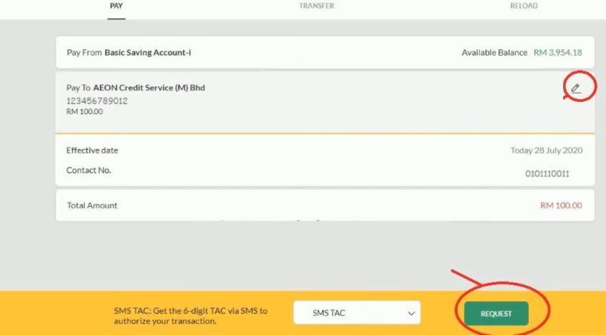 How To Pay AEON using Maybank2 u