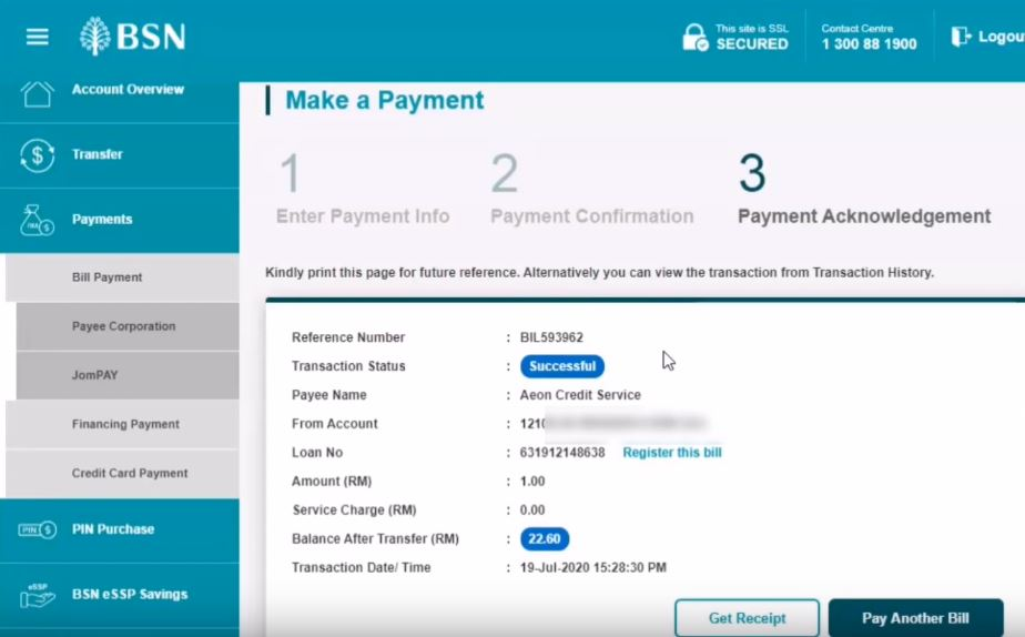 How To Pay AEON