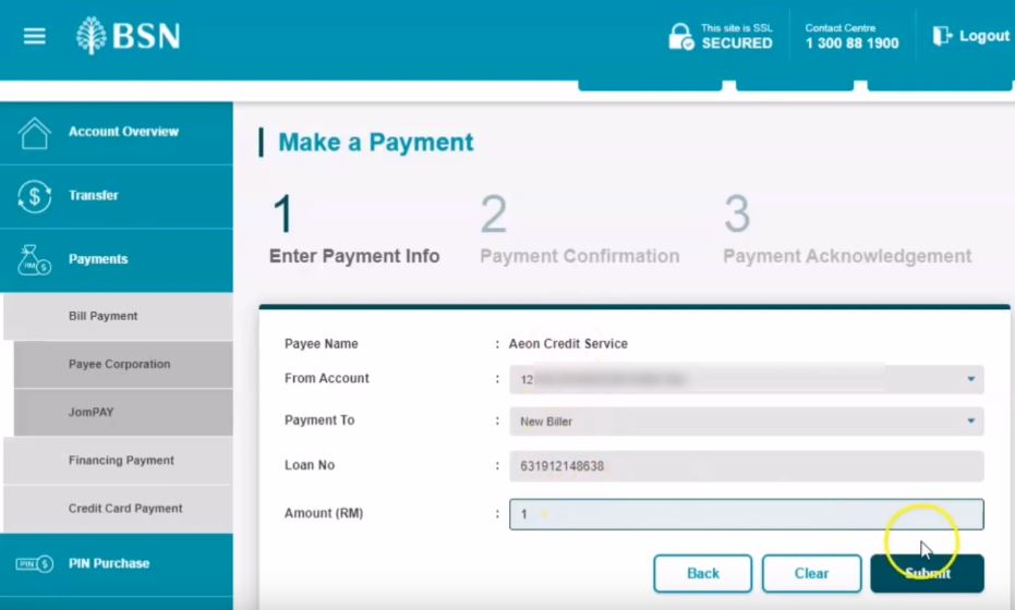 How To Pay using AEON