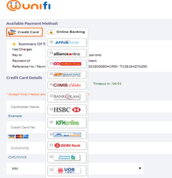 How To Pay via Unifi Online Payment
