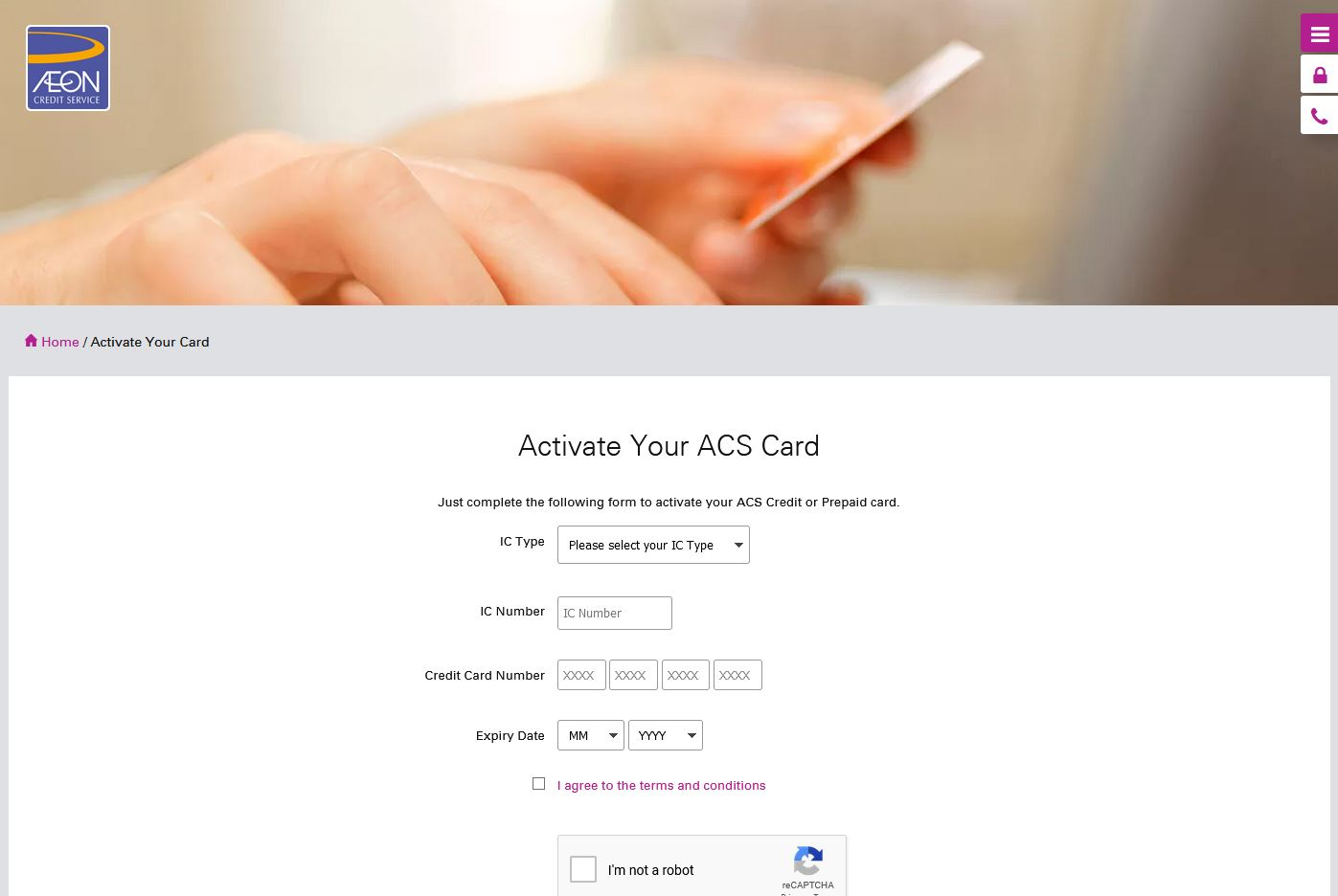 How to Activate AEON Credit Card via activation Online Payment