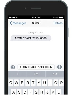 How to Activate AEON Credit Card via SMS