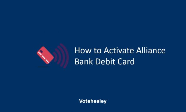 How to Activate Alliance Bank Debit Card