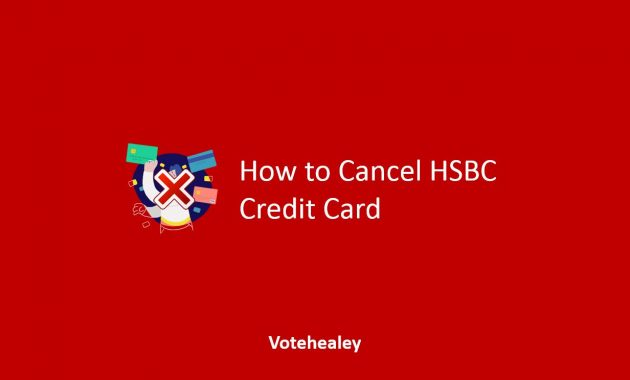 How to Cancel HSBC Credit Card