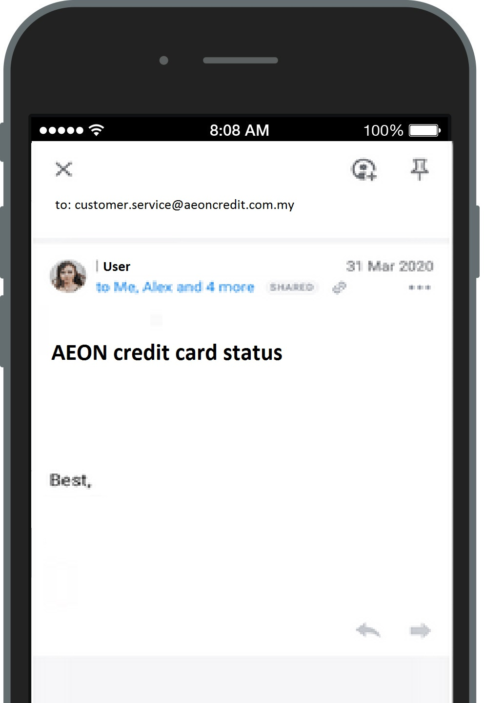 How to Check AEON Credit Card Status Online Payee via Email Send