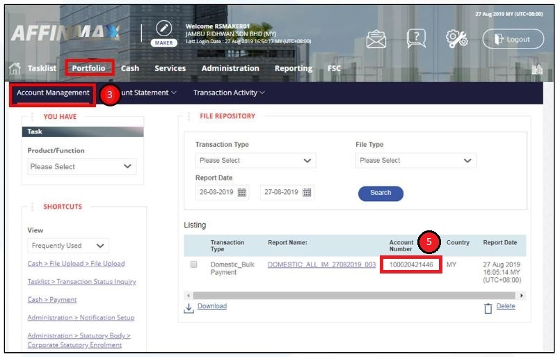 How to Check Affin Bank Account Number via Online Banking Pay