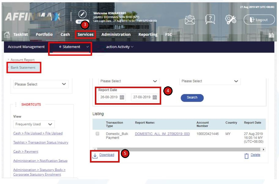 How to Check Affin Bank Statement via Affin Online Payment