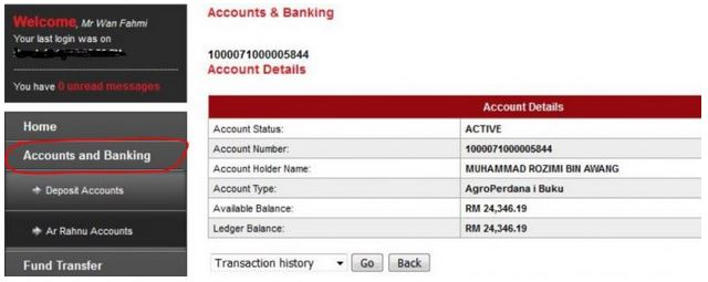 How to Check AgroBank Account Balance using Internet Banking