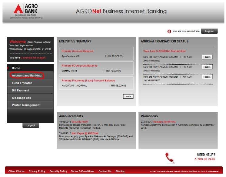 How to Check AgroBank Bank Statement via AgroNet Online Payment