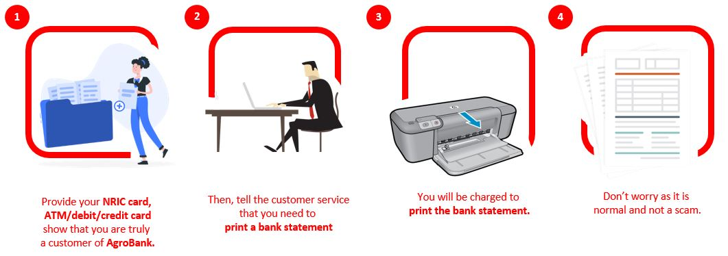 How to Check AgroBank Bank Statement via Bank Branches