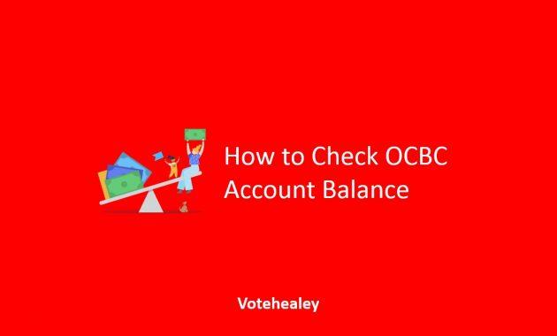 How to Check OCBC Account Balance