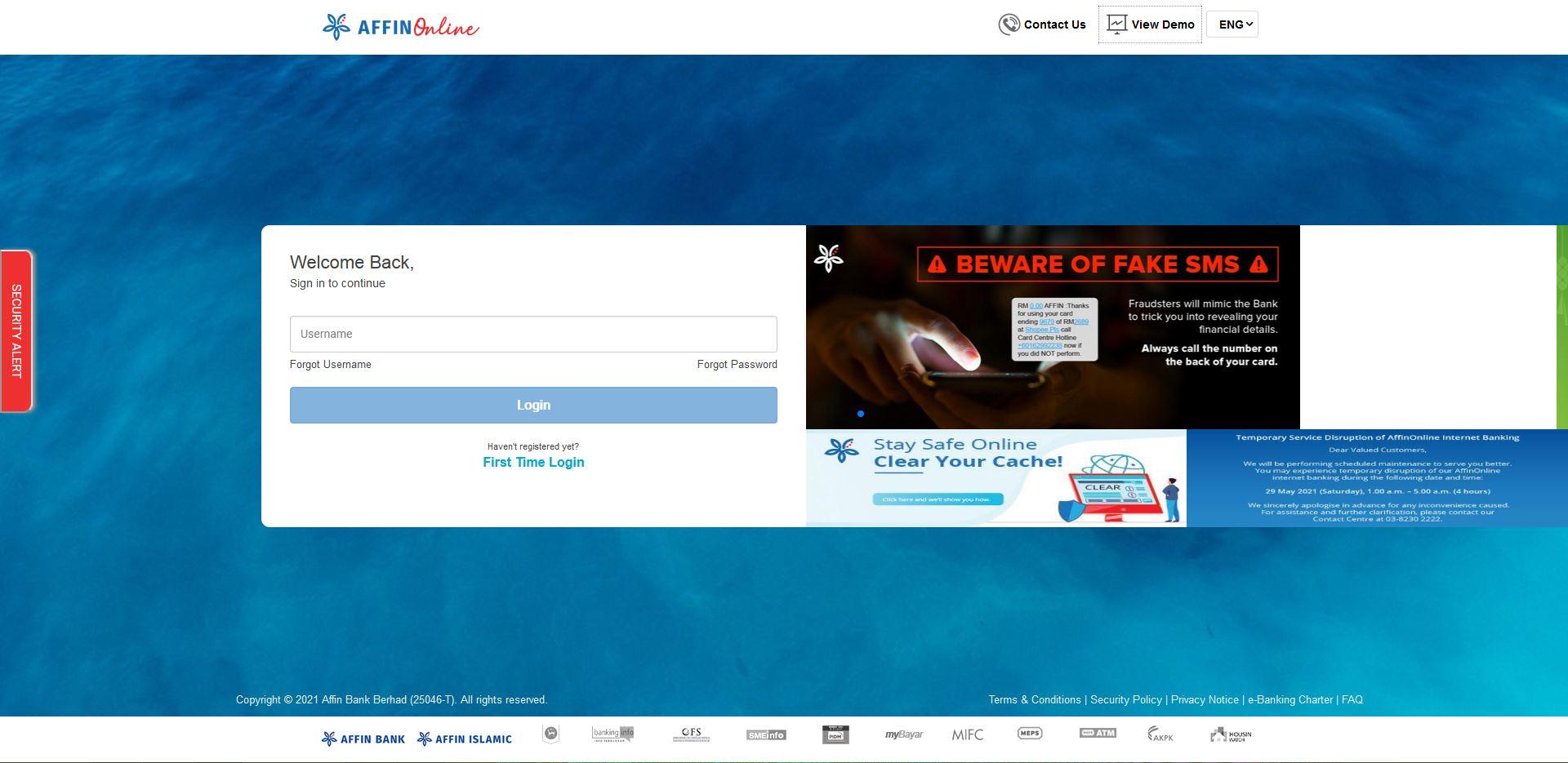 How to Login Affin Bank Online Banking using Internet Browser