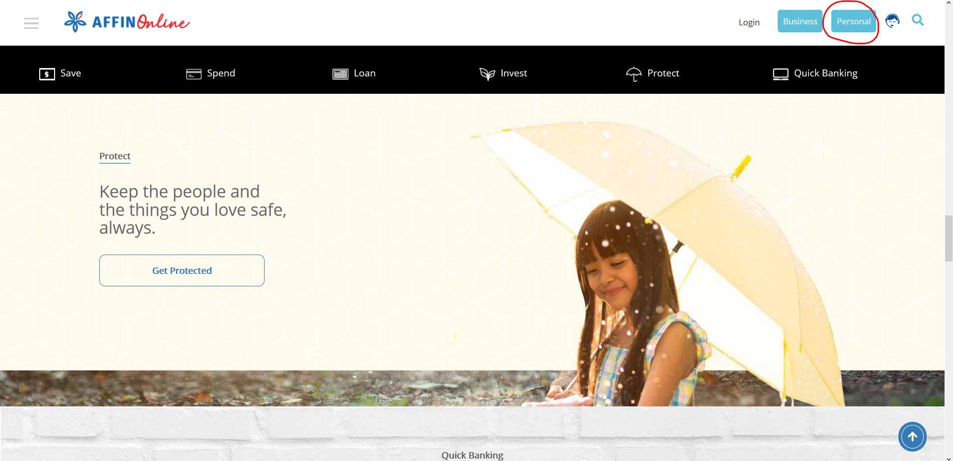 How to Login Affin Bank Online Banking via Internet Browser